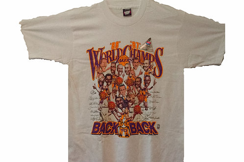 Vintage Lakers World Champs 87'-88' Tee