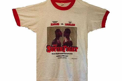 Vintage 1987 Sugar Ray Leonard v. Marvelous Marvin Hagler Tee