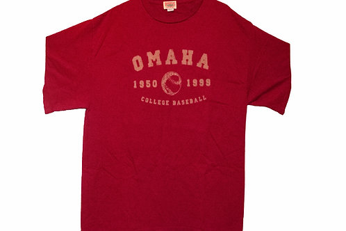 Vintage 99' NCAA World Series Omaha Baseball Tee