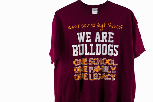 Vintage West Covina High School Bulldogs Tee