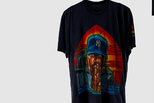 Vintage 90's Stained Glass Biggie Praying Tee