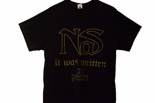 "Vintage Nas It Was Written ""20 Year"" Celebration Tee"