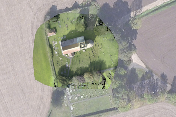 Pix4d Church Map with Drone