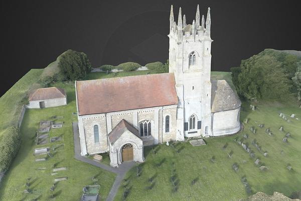 Drone Aerial Church