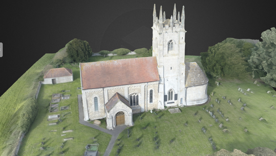 Drone 3d mapping Church