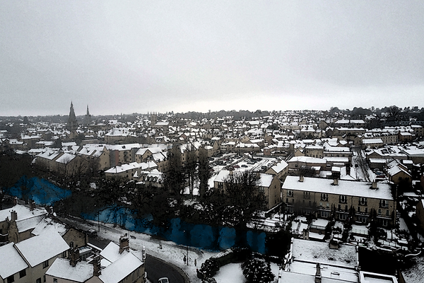 Stamford Lincolnshire in the snow