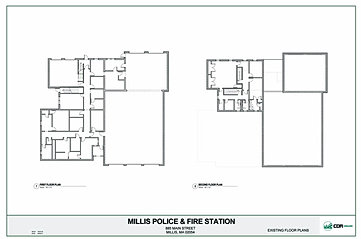 new millis police station current police fire dept