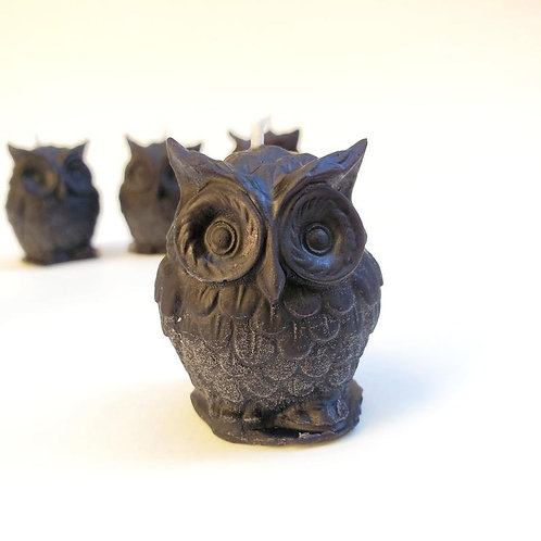 Mini Beeswax Owl Candles
