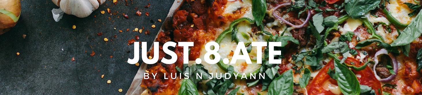 Just8Ate.com header