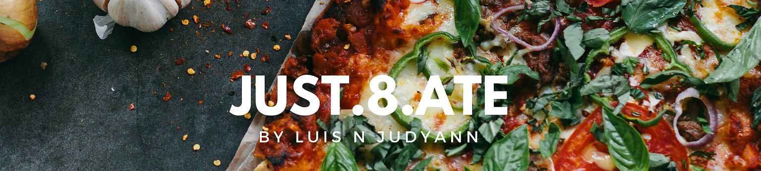 Just8Ate.com header