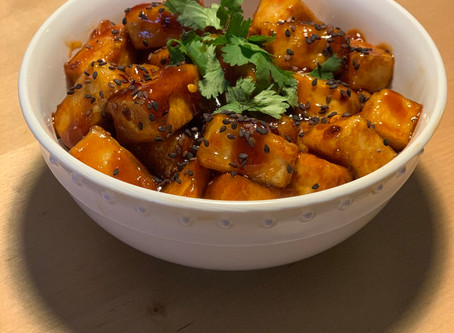 Healthy Vegan Crispy Orange Tofu