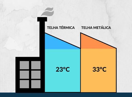 Utilizar telha térmica pode reduzir mais de 10°C do ambiente
