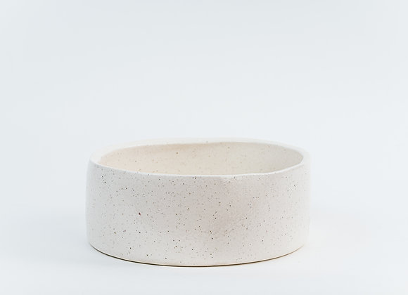 Large Pet Bowl - Peppered White