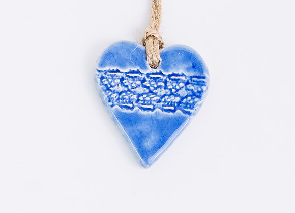 Textured Heart - Nordic Blue