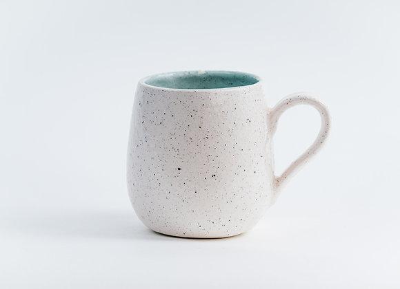 2nd's Mug - Peppered White / Duck Egg Blue