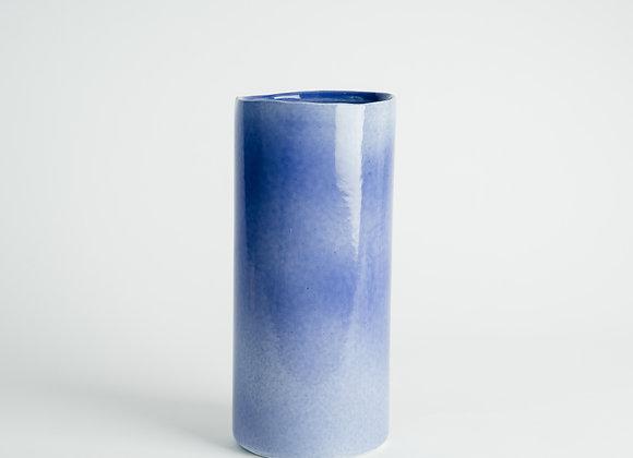 Tall Cylinder Vase - Cobalt