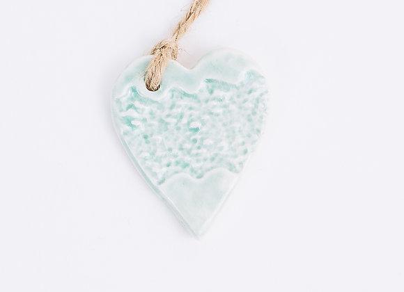 Textured Heart - Arctic Blue