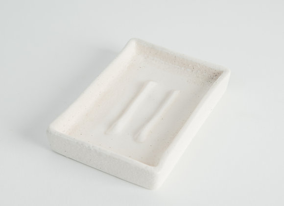 Soap Dish - Peppered White