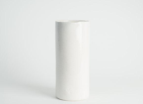 Tall Cylinder Vase - Peppered White