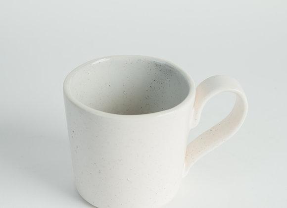 Straight Sided Mug - Peppered White / Cloud Grey