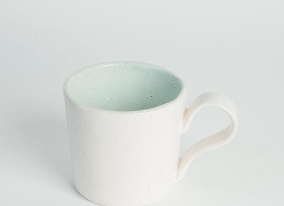 Straight Sided Mug - Peppered White / Duck Egg Blue