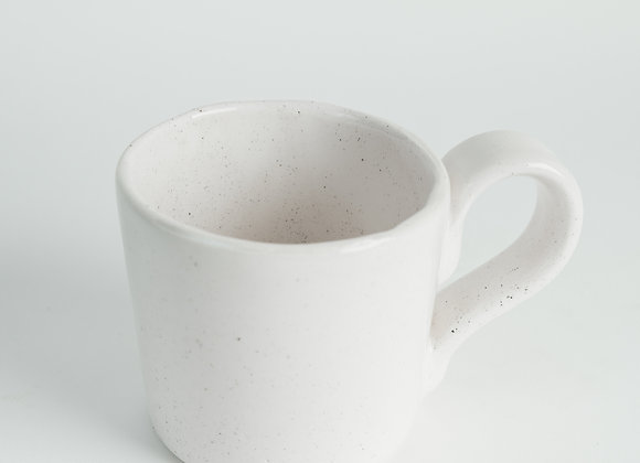 Straight Sided Mug - Peppered White