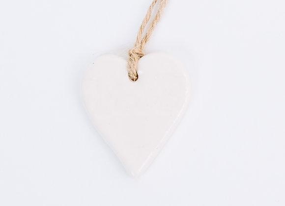 Textured Heart - Polar White