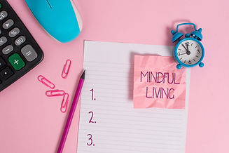 Conceptual hand writing showing Mindful