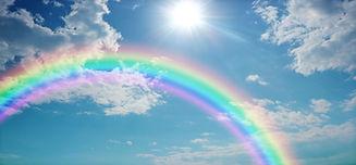 Vivid Rainbow Sky Website Banner  -  Wid