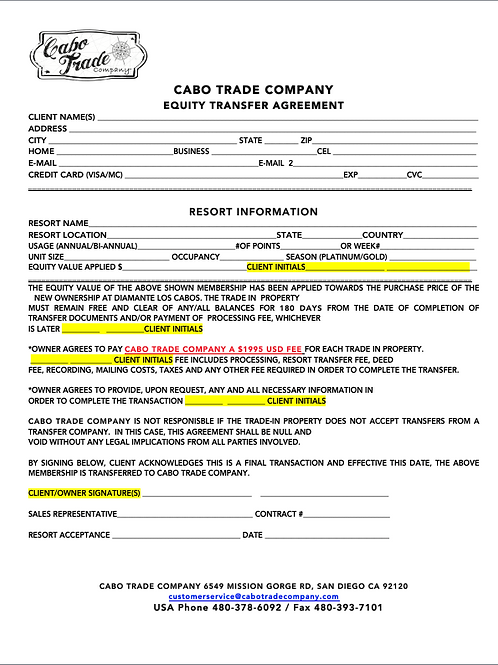 Equity Transfer Agreement