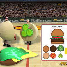 Build A Burger relay game FX in Motion