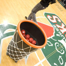 milwaukee bucks giant basketball hoop basket