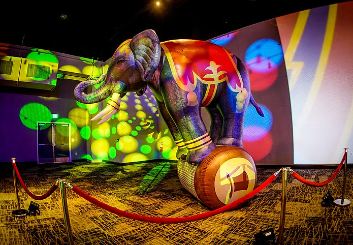 Corporate Circus Themed Event Giant Elep