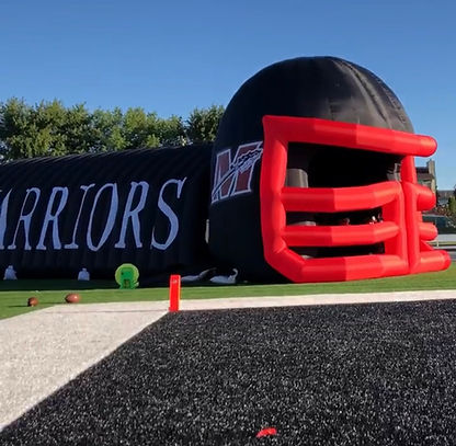 inflatable helmet tunnel football