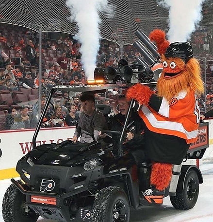 nhl philadelphia flyers gritty t-shirt t shirt cannon shooter vehicle