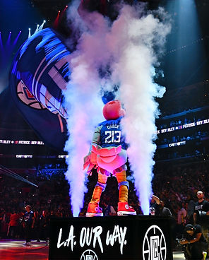 nba clippers chuck the condor intro platform