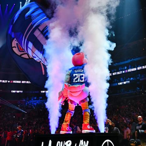 NBA LA CLippers Intro Platform Chuck The Condor