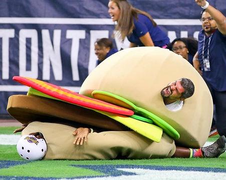 houston texans Build a Burger Relay Race Houston Texans