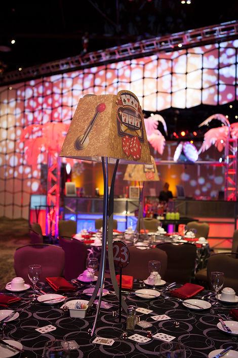 Corporate Casino Themed Event Centerpiec