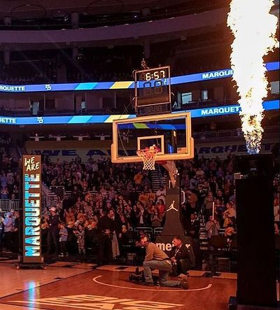 video flame towers marquette ncaa basketball intros