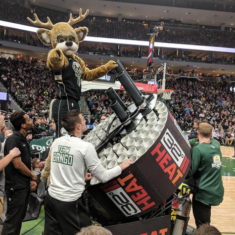 NBA Milwaukee Bucks T Shirt Gatling Gun T-Shirt Cannon