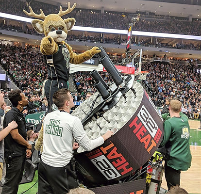 Milwaukee bucks quad barrel t-shirt t shirt gatling gun bango cannon