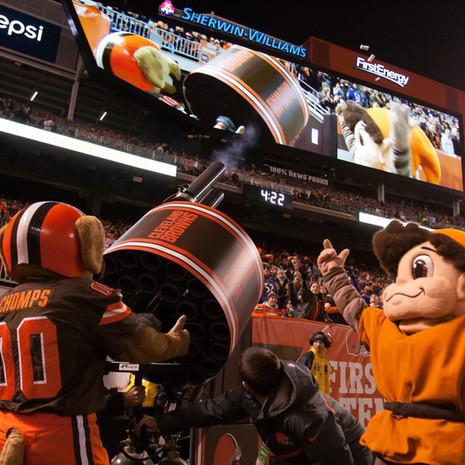 Chomps Browns Double Barrel Gatling T-Shirt cannon