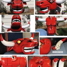 bulls single shot t-shirt tshirt t shirt cannon gun