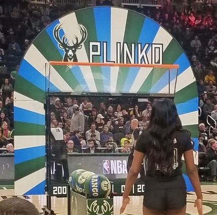 milwaukee bucks giant basketball plinko game
