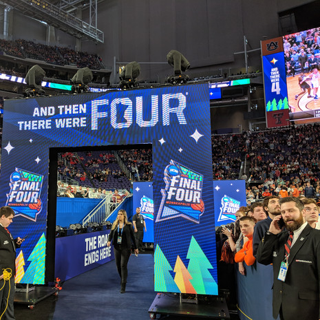 final four video wall intro entrance