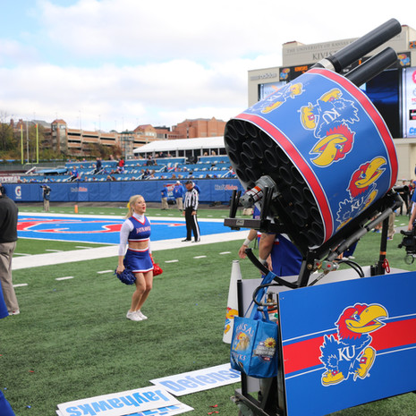 Big Jay Kansas Double Barrel Gatling gun Tshirt cannon