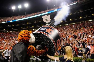 auburn tigers Double Barrel Gatling Tshirt cannon gun