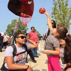 NBA Chicago bulls telescoping backpack hoop