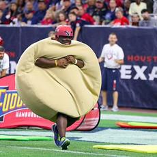 NFL houston Texans Build A Burger relay game